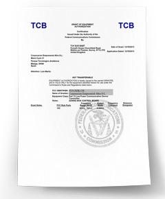 Certificat US FCC