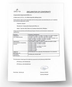 Certificat de Conformité CE