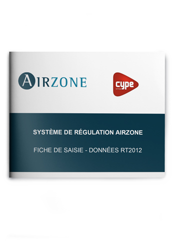 Fiche de saisie Airzone – CYPETHERM RT2012 / COMETH