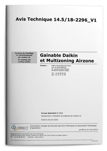 ATEC Gainable Daikin et Multizoning Airzone