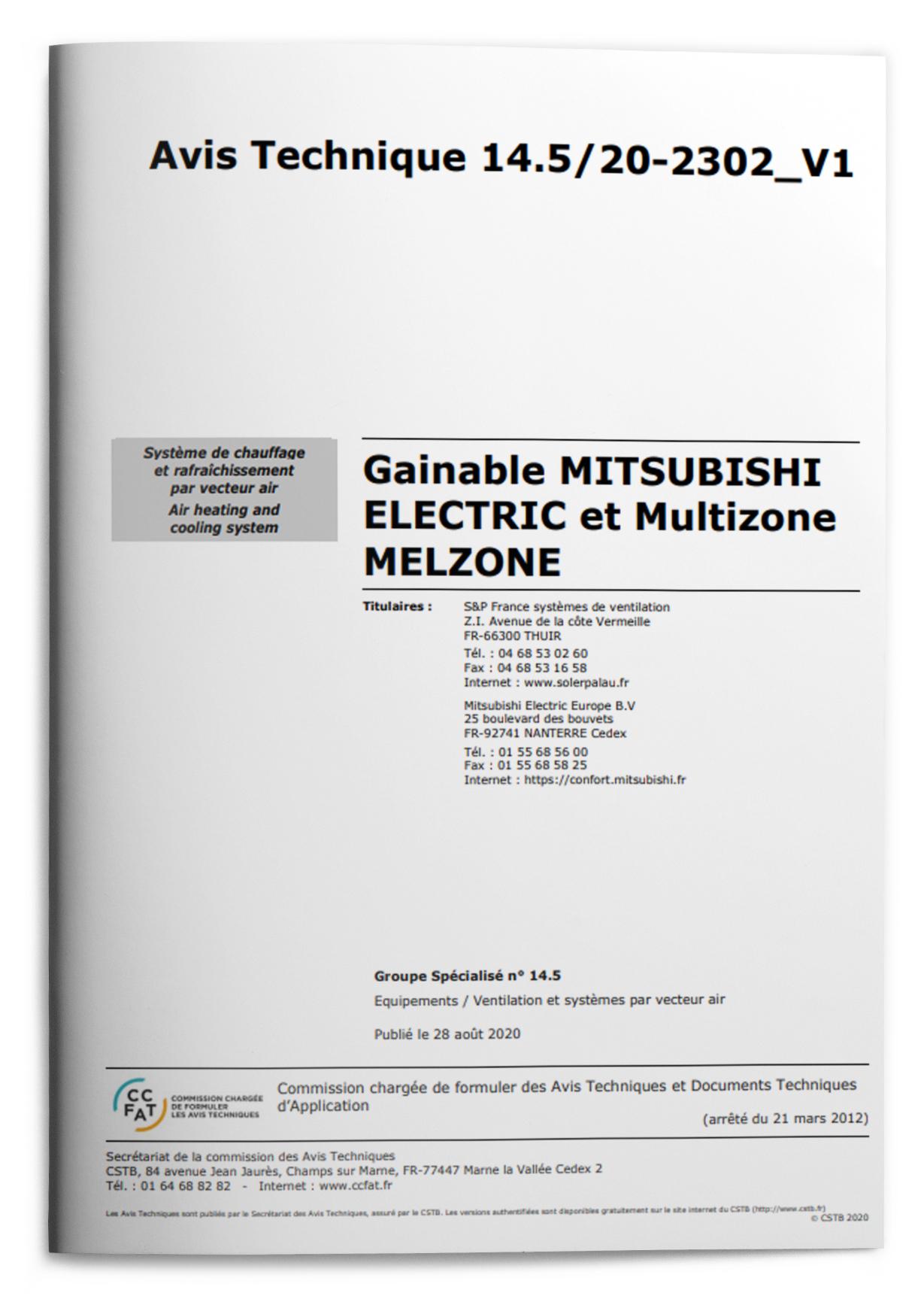 ATEC Gainable Mitsubishi Electric et Multizoning Melzone