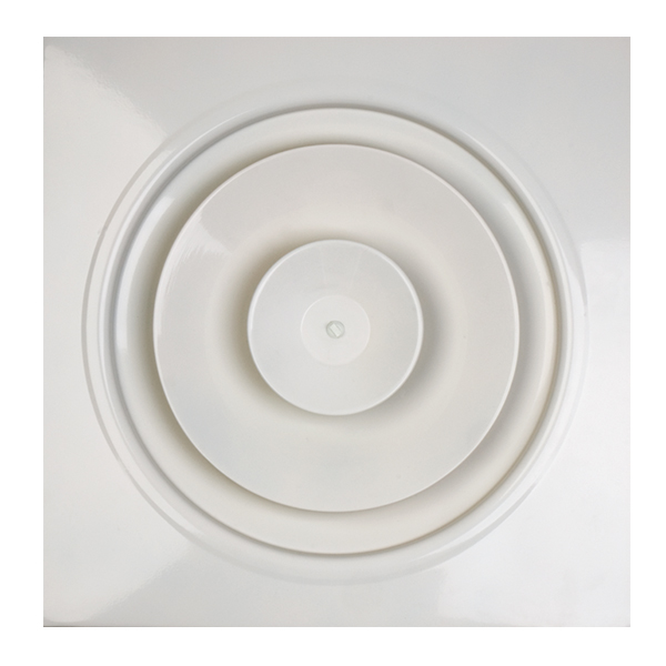 Diffuseur circulaire à induction pour plafond modulaire