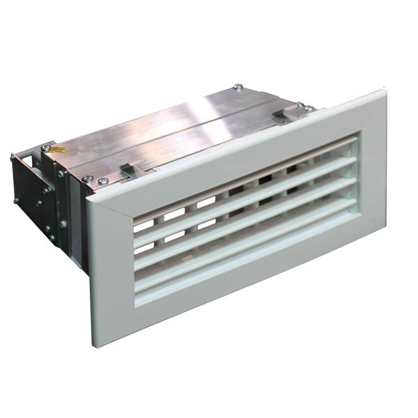 Grille de soufflage motorisée de double déflexion horizontale-verticale