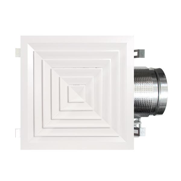 Diffuseur carré à plénum isolé motorisé