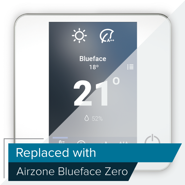 Thermostat radiant couleur Airzone Blueface filaire (RA6)