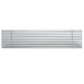 Grille à lames linéaires fixes à 15º sans cadre de montage pour plafond modulaire
