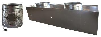 Plénum isolé motorisé pour diffuseurs hélicoïdaux